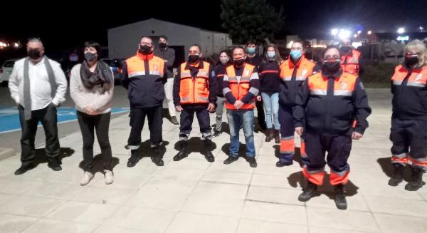 Felicitació a l'agrupació de voluntaris de Protecció Civil per la feina desenvolupada durant 2020