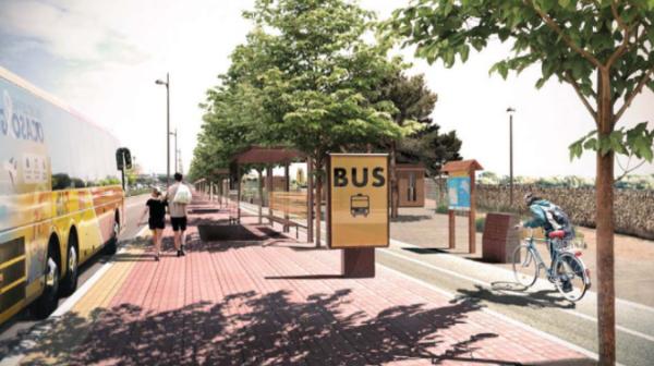 La parada de autobuses de la perimetral, fuera de servicio por obras durante cuatro meses
