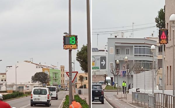Ciutadella reubica els punts de control de velocitat a la via Perimetral i l'avinguda la Pau