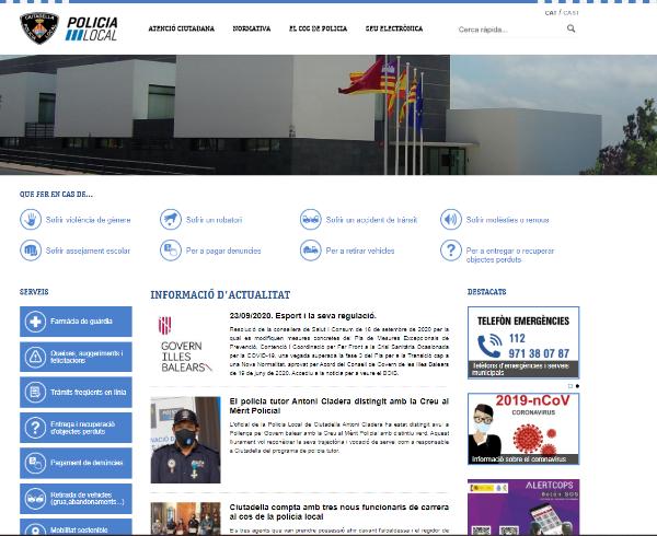 Ciutadella estrena nou web de Policia Local